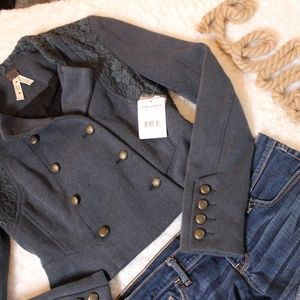 Free People We The Free Military Jacket Midnight 0
